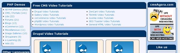 Darmowe samouczki video na temat wybranych systemów klasy CMS