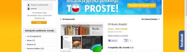 JM-Books – szablon dla Joomla! dla stron poświęconych książkom