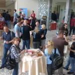 Uczestnicy podczas przerwy na kawę