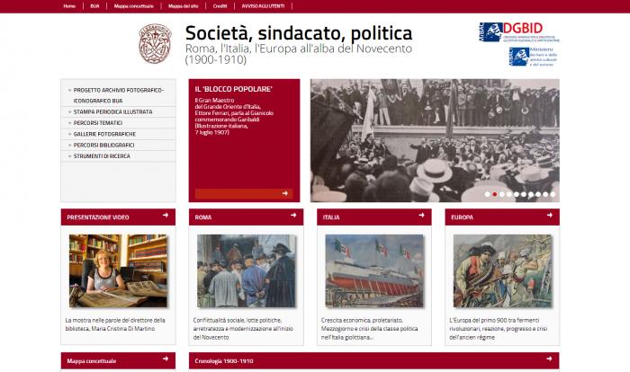 Cyfrowa wystawa na systemie MOVIO, źródło: http://movio.beniculturali.it/bua/societasindacatopolitica/