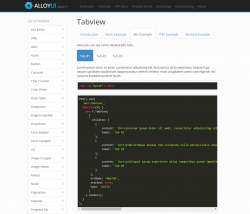 AlluyUI Tabview, źródło: http://alloyui.com/examples/tabview/stackedpills/