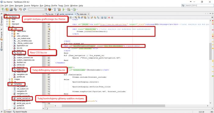Projekt motywu graficznego w NetBeans