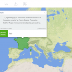 Widok mapy w Recogito
